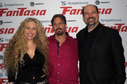 "Marc at the World Premiere of ""Aversion"" at the2011 Fantasia Film festival in Montreal, with actress Melantha Blackthorne and director Jeff Roberts"