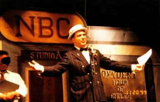 """On stage as Bert Healey in """"Annie"""""""