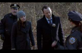"""Marc in """"Blue Bloods"""" with Donnie Wahlberg and Marisa Ramirez"""
