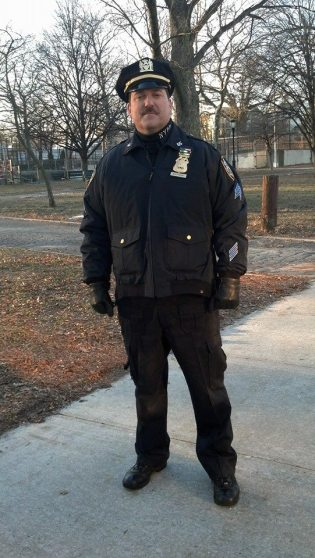 "On locations as an NYPD sergeant for ""Blue Bloods"""