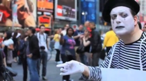 """Screen shot from """"Mime Flyer"""""""