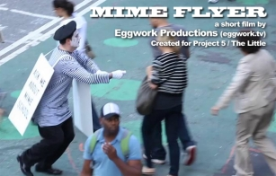 """As The Mime in """"Mime Flyer"""""""