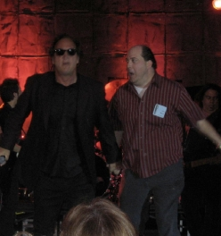 On stage with Jim Belushi