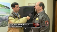 "Marc as Ranger John Baughman on ""The Onion News Network"""