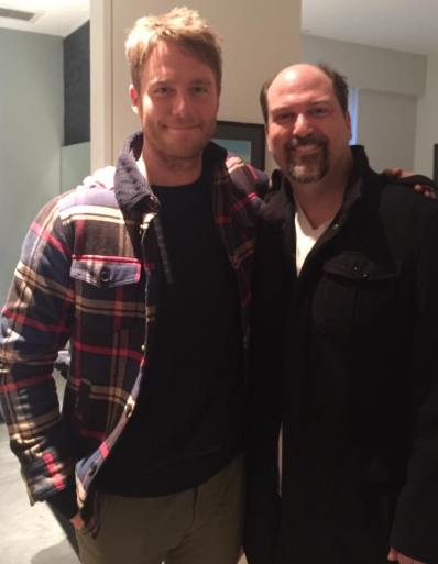 "With Jake McDorman on set of ""Limitless"" (CBS)"